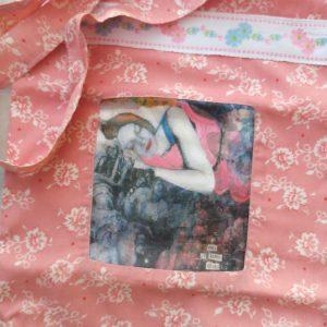 """Tote Bag """"Fait de beaux rêves"""" (Roses)"""