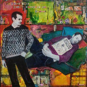 Pour faire durer l'amour Respecter son sommeil 110 x 110 cm