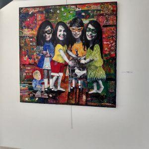 Trouble fête 150 x 150 cm