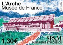 Timbre L'Arche Musée de France