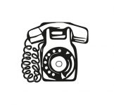 Timbre à date Téléphone fixe